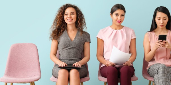 Young,Women,Waiting,For,Job,Interview,Indoors
